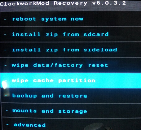 recovery cache