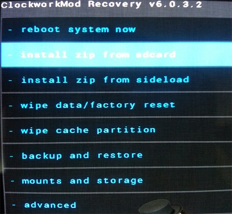 recovery install