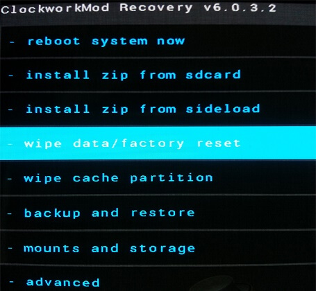 recovery wipe