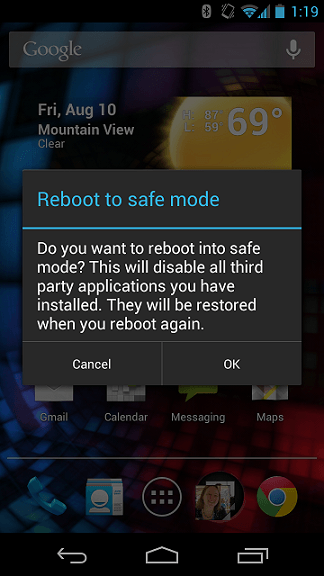 safe mode boot
