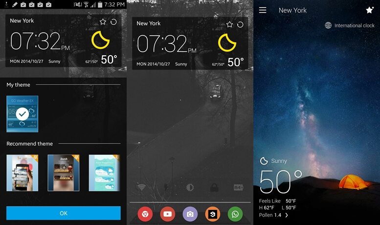 Go Weather widgets for Android