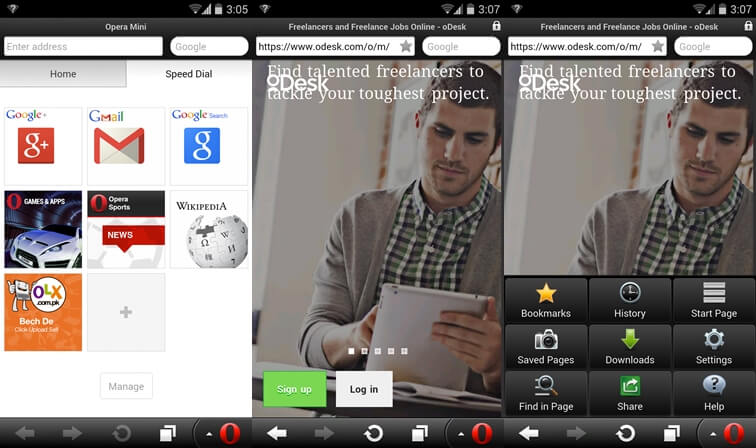 Opera Mini Browser for Android