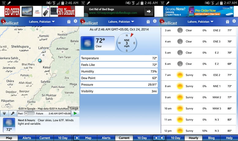 Intellicast Weather app for Android