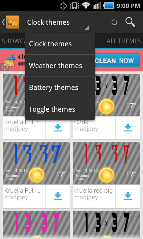 beautiful widgets themes