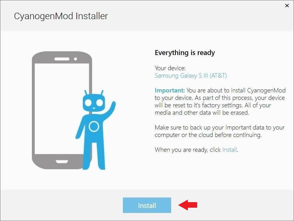 cyanogenmod install