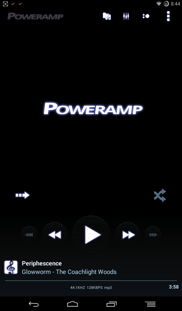 poweramp playing music