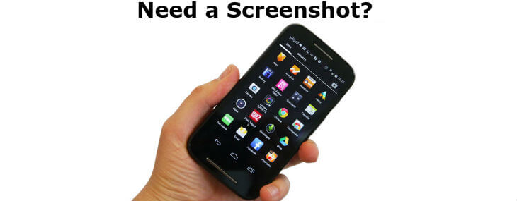 take screenshot on Moto E