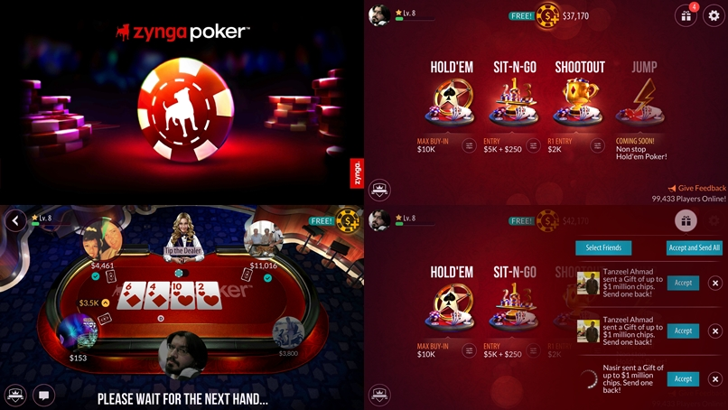 How to play poker with friends zynga