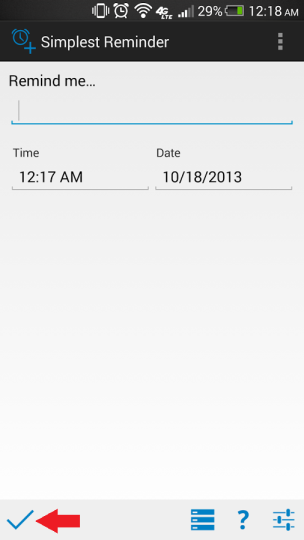 Add reminder in android example