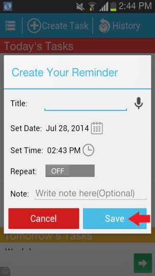 to do reminder save