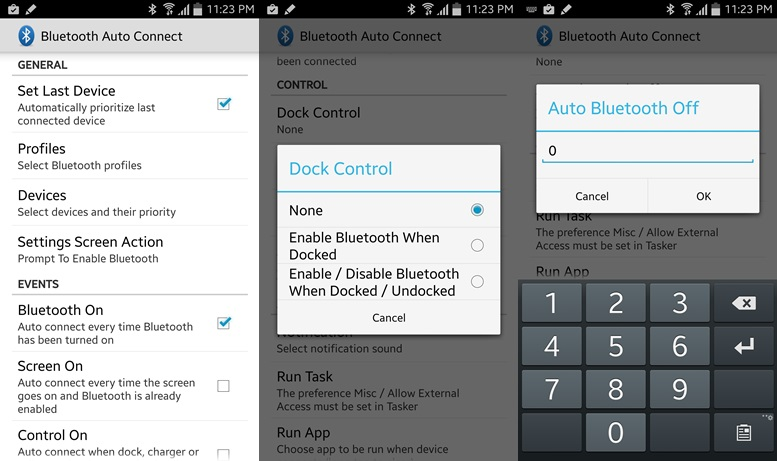how to turn bluetooth on android when not in use