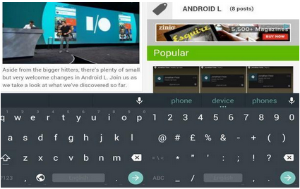 Get the Android L keyboard