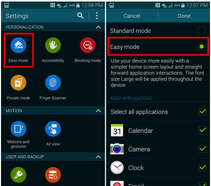 Use Your Galaxy S3 in Easy Mode