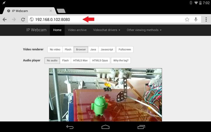 ip webcam address