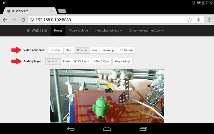ip webcam browser