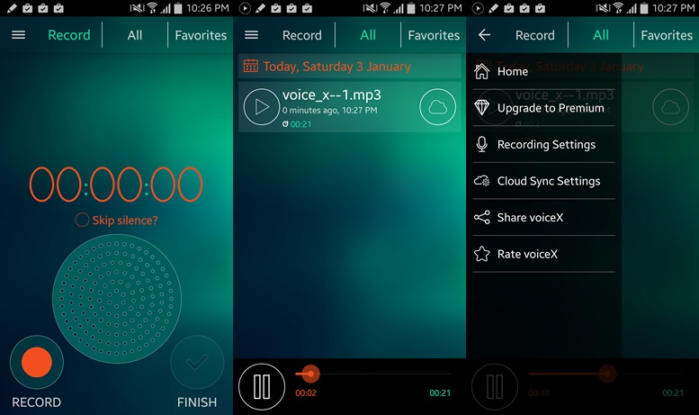 Dictaphone - voice recorder apps for android