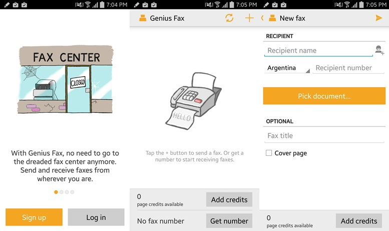 Genius Fax apps for Android