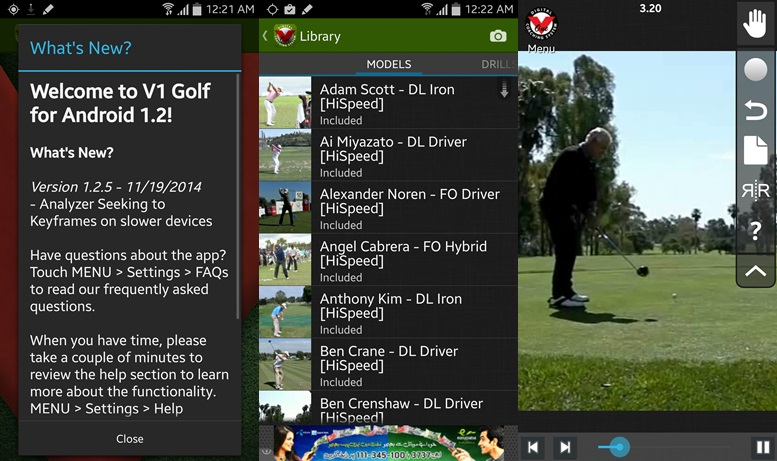 V1 Golf apps for Android
