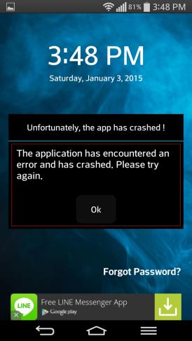 app locker error