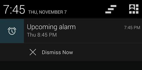 dismiss alarm