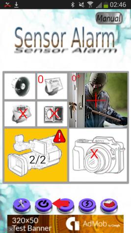 Sensor Alarm Spy Camera