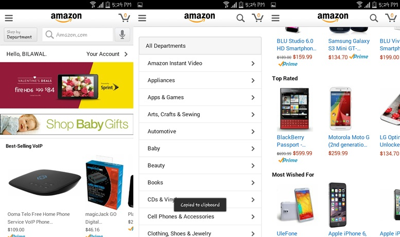 Amazon Shopping apps for Android