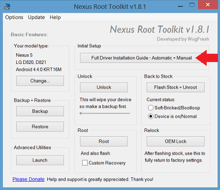 nexus root toolkit driver