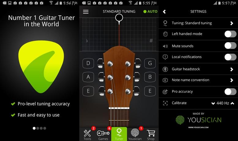 Приложение тюнер для гитары скачать