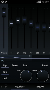 using Poweramp Music Player