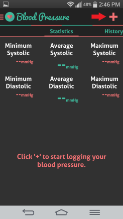 HI health tracker blood pressure