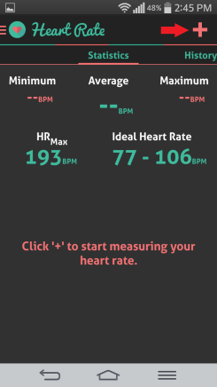 HI health tracker heart rate