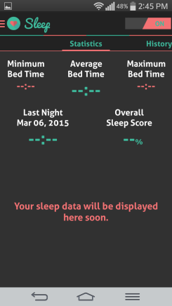 HI health tracker sleep