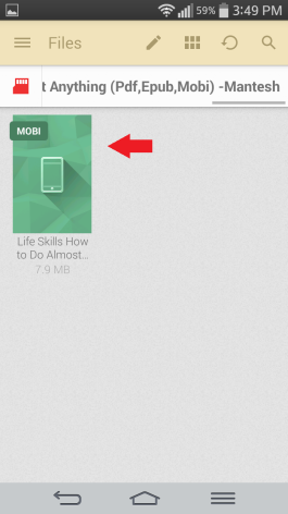 How to Open Mobi Files on Android