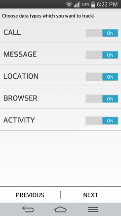 SafeT Children Tracker settings