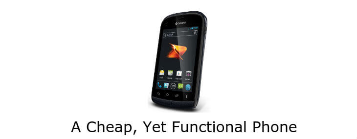 A Review of the Cheapest Android Phone: Kyocera Hydro