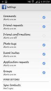 Remove Facebook Contacts