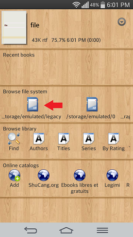 cool reader browse