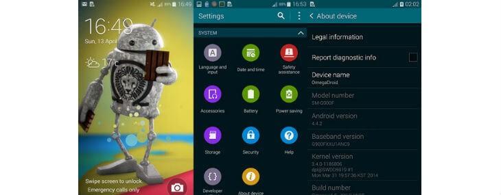 install Omega custom ROM on Samsung Galaxy S5
