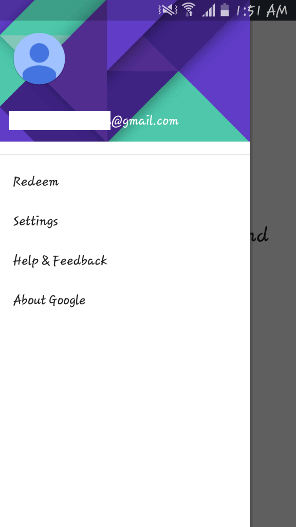 Google account you use to access the Google Play Store