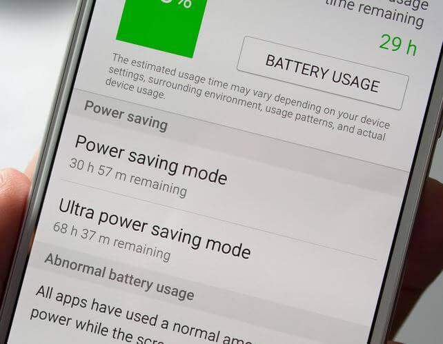 Samsung Galaxy S6 power saving mode