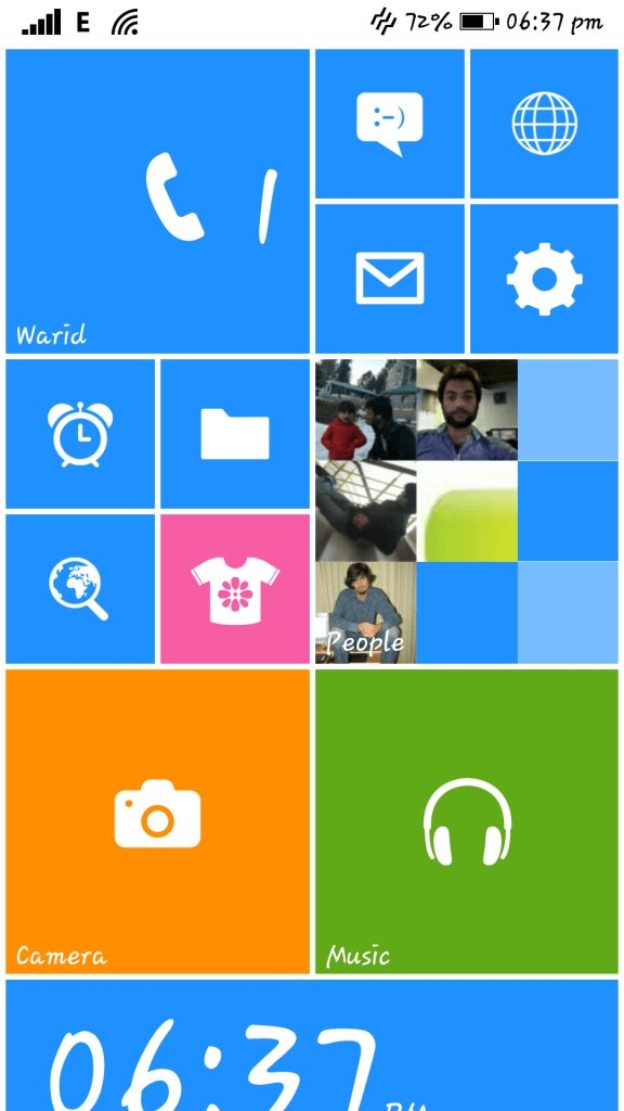 Windows 8 interface on Android - WP8 Launcher (1)
