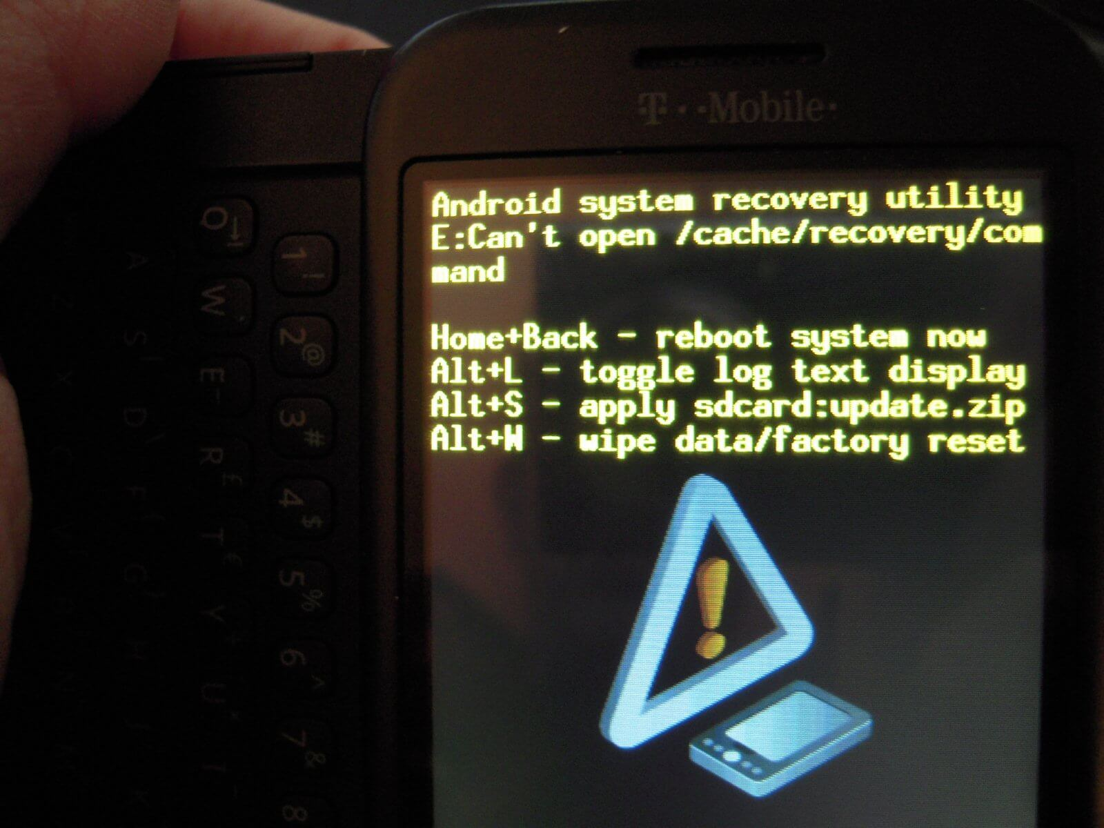 Android System Recovery Screen