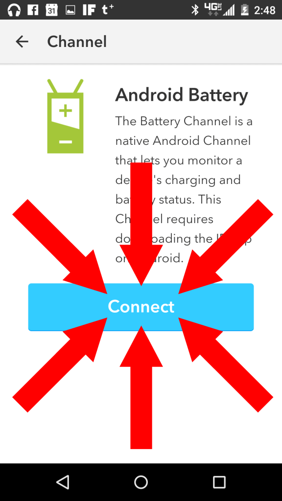 Connect battery channel.