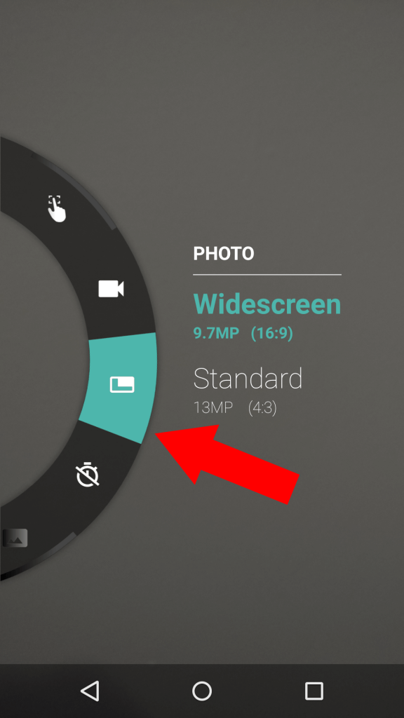 Adjust the dimensions of the pictures you take.