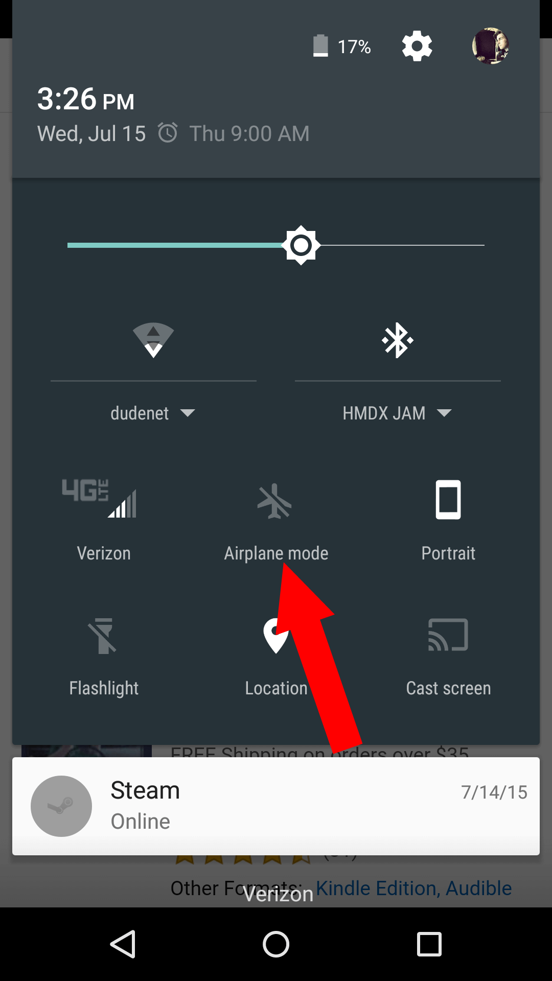 Activate Airplane Mode to give your Wi-Fi connection a refresher.
