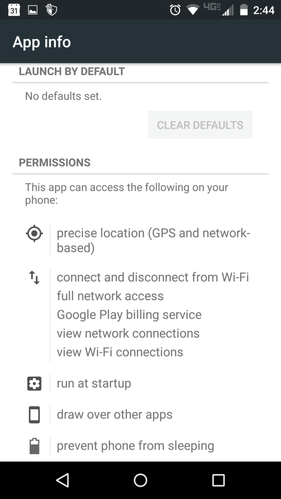 The app asks for location permissions.