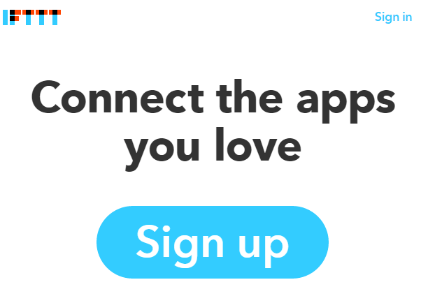 IFTTT Signup Button