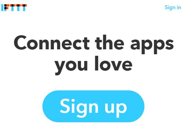 IFTTT Signup Button