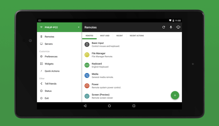 Unified Remote App for Android – All in One Is an Understatement