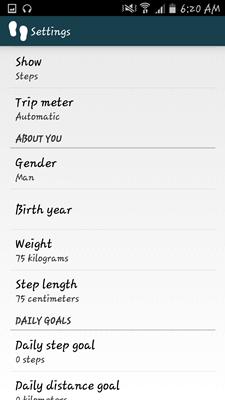 WalkLogger Pedometer App - 029